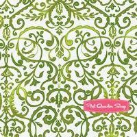 Merry Mistletoe Green Scrollwork Yardage SKU# PWDF234-GREE