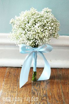 Baby's breath bridesmaids bouquets.