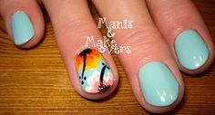 Manis & Makeovers: Mani for my mommy - hibiscus http://manisandmakeovers.blogspot.com/2013/11/mani-for-my-mommy-hibiscus.html