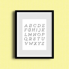 Alphabet Minimal Free Art Printable • Little Gold Pixel - great for any gallery wall or a kids room