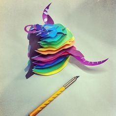 #handmade #3D #bull // #colorfull // handmade // toro #hechoamano