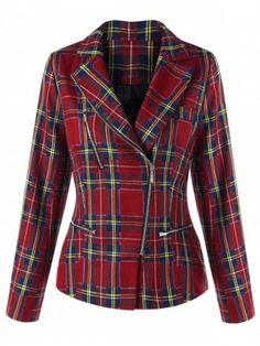 EVEDESIGN Mens Hiphop Flannel Cotton Plaid Shirt Button up Sleeveless Zip Side Loose Vest