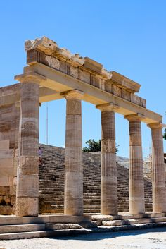 The Acropolis of Lindos, Rhodes.  A lovely holiday