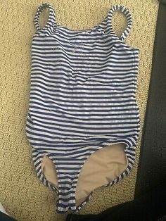 Girl Toddler, Bathing Suits, J Crew, Size 10, Bodysuit, Swimsuits, Blue And White, Stars, Ebay