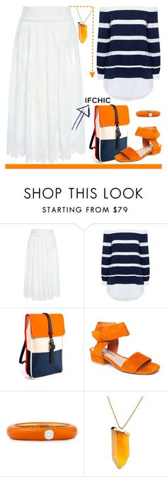"""""""Ifchic"""" by zon-vito ❤ liked on Polyvore featuring 10 Crosby Derek Lam, Rains, Matisse, Adolfo Courrier, Kenneth Jay Lane and ifchic"""