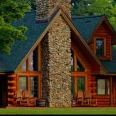I have always always always wanted a log cabin home!