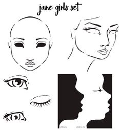 I created my Stencil designs to help my students work through some facial proportion lessons as a teaching aid that could help decipher the landmarks of the face and really bring learning along much quicker. In particular, three-quarter turned faces and profiles cause a bit of angst for people not confident with drawing them ( I have a stencil dedicated to each of those scenarios in each of my 'Jane Girls' series).