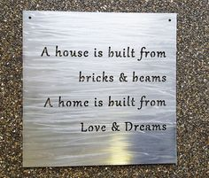 Custom Metal Sign Your Own Quote or Words  Personalized