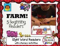 FARM! Beginning Readers for Guided Reading {CCSS}These 5 Handy Dandy Farm Beginning Readers target key sight and high frequency words. All five Farm books come with engaging printable activities in B/W. They feature the following farm animals:*chickens*cows  *ducks   *pigs   *sheepThe readers have:*Strong picture support*Controlled text*Repetitive patterns*Natural language*Large print*Familiar concepts*Limited text on a page*Wider spacing between the wordsAll 5 Handy Dandy Beginning Readers…