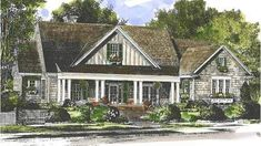 Best house plans farmhouse one story southern living ideas House Plans One Story, One Story Homes, Ranch House Plans, Best House Plans, Story House, Southern Living House Plans, Country House Plans, Country Style Homes, Southern Cottage