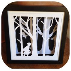 "*Made To Order* ""Little Red""- Shadow Box Paper Cut Art"