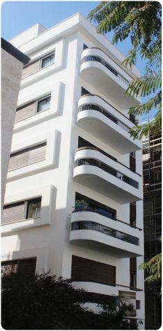 restored Bauhaus-house in central Tel Aviv