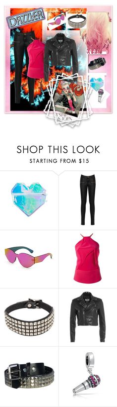 """""""Alison Blaire (Dazzler)"""" by krgood7 ❤ liked on Polyvore featuring ESQAPE, WearAll, RetroSuperFuture, Roland Mouret, Cotton Candy, R13, Just Cavalli and Bling Jewelry"""