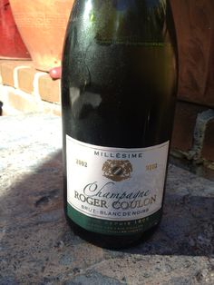 Bubbles in the garden 2002 Champagne Roger Coulon Blanc de Noirs Importer: Rosenthal Wine Merchants