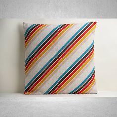 Multicolor Stripe Pillow Cover, Stripe Pillow Cover, Decorative Pillow Cover, Pillow Case, Cushion Cover, Linen Pillow Cover, Throw Pillow