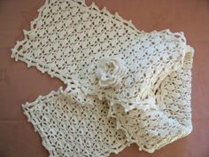 Vintage Irish style inspired crocheted scarf REDUCED by PinkPicot, £20.00