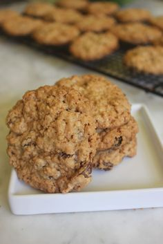 Classic Chewy Oatmeal Cookies with Flour Salt Baking Soda Unsalted Butter Ground Cinnamon Dark Brown Sugar Granulated Sugar Vegetable Oil Eggs Large Egg Yolks Vanilla Extract Rolled Oats Raisins. Best Oatmeal Cookies, Oatmeal Cookie Recipes, Kitchen Recipes, Baking Recipes, Dessert Recipes, Desserts, American Test Kitchen, Cooks Illustrated Recipes, Cooks Country Recipes