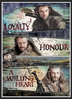 I love how Kili, Thorin, and Fili are the only dwarfs getting any REAL love, just because of their looks. xD