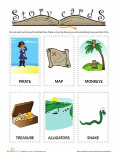 Worksheets: Pirate Story Cards