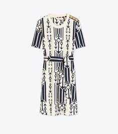 Visit Tory Burch to shop for Logo Lace Tank Dress and more Women's Clothing. Find designer shoes, handbags, clothing & more of this season's latest styles from designer Tory Burch. Holiday Fashion, Spring Fashion, Lace Tank, Ladies Dress Design, Black Stripes, Designer Dresses, Tory Burch, Short Sleeve Dresses, Dresses For Work