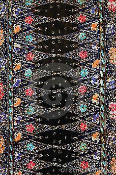 Colorful batik texture made in Malaysia.