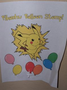 The Creative Party Mom: Pokemon Party - Pikachu Balloon Stomp