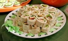 baby shower food, could even use paper plates and a hole punch to weave ribbon around the edges.