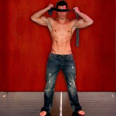 red room of pain ripped jeans bare feet grey tie you ...