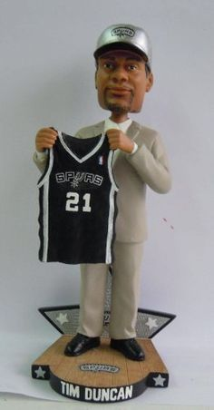 Tim Duncan San Antonio Spurs 1997 NBA Draft Day Bobble Head