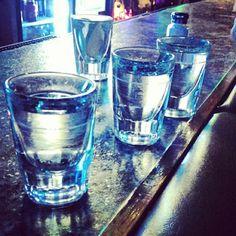 Shots of Tarantula Plata Tequila! #TarantulaTequila