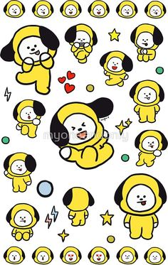 Chimmy 2 fanart made by me Bts Chibi, Bts Bangtan Boy, Bts Jimin, We Bare Bears, Bts Drawings, Line Friends, Billboard Music Awards, Bts Lockscreen, Bts Fans