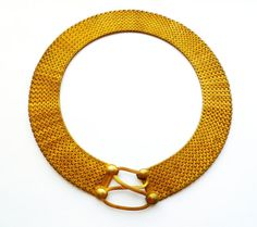 1920s Egyptian revival articulated mesh collar necklace. Aaaaaaah!