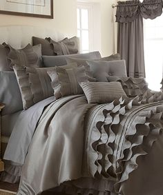 Look at this #zulilyfind! Platinum Anastacia Comforter Set by Colonial Home Textiles #zulilyfinds