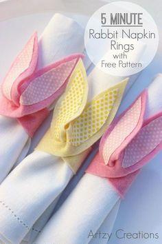 DIY Tutorial DIY Napkin Rings / DIY 5 Minute Rabbit Napkin Rings - Bead&Cord