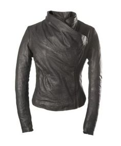 E Funk Women's 100 % Lamb Leather Fitted Smart Jacket $219.00