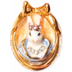 Hop Skip & Flutter - Princess Cottontail Bunny Cameo Small Brooch ($49) ❤ liked on Polyvore featuring jewelry, brooches, cameo brooch, swarovski crystal jewelry, bunny jewelry, bunny rabbit jewelry and cameo jewelry