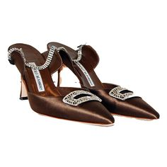 Manolo Blahnik Brown Satin Pumps http://www.consignofthetimes.com/product_details.asp?galleryid=7658