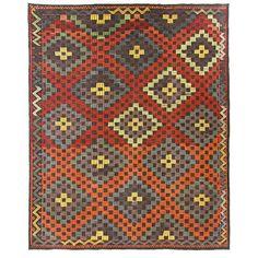Vintage Turkish Kilim | Vintage Cicim Flatweave