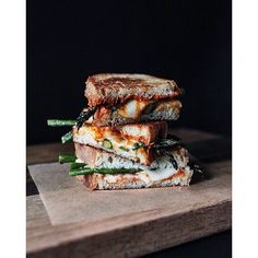 Asparagus & Sweet Red Pepper Pesto Grilled Cheese via feedfeed on https://thefeedfeed.com/grilledcheese/themodernproper/asparagus-sweet-red-pepper-pesto-grilled-cheese