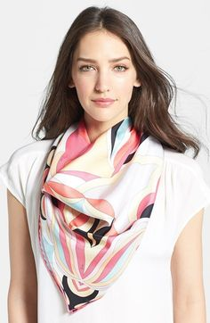 Emilio Pucci 'Tulipani' Silk Scarf available at #Nordstrom
