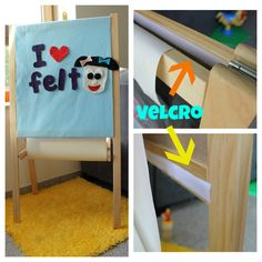 This is awesome!!! C will love it: Easel to Felt Board in Minutes