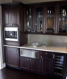 Espresso Cabinets With Light Granite. | Kitchen | Pinterest | Espresso  Cabinets, Light Granite And Granite