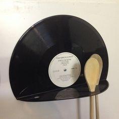 Kochlöffelhalter,++Schallplatte,+Vinyl,+Unikat+von+Platten-Bau+Marco+Greif+auf+DaWanda.com