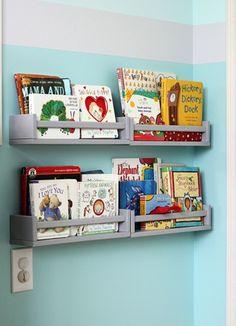 Kruidenrekjes Ikea als boekenrekjes
