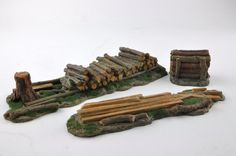 Pile of Logs  Stump Tree  Trunks  Forest  Resin by resinscenery