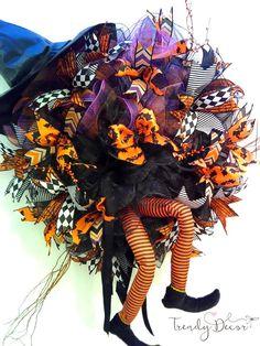 Halloween wreath XXL Halloween Kranz Fall Witch wreath