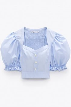 Crop Top Outfits, Basic Outfits, Classy Outfits, Cropped Tops, Crop Top Designs, Blouse Designs, Blackpink Fashion, Fashion Outfits, Dirndl Blouse