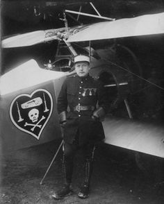 Charles Nungesser and his Nieuport.