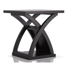 Furniture of America Luxor Espresso End Table, Brown