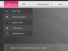 Stylish Examples of Drop-Down Navigation Menus in Web Design